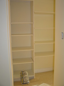 master bedroom shelving completed