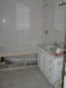 washroom near completion