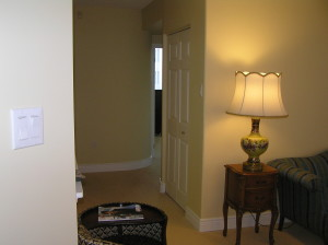 new hallway and linen closet