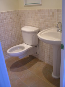 toilet finally arrices